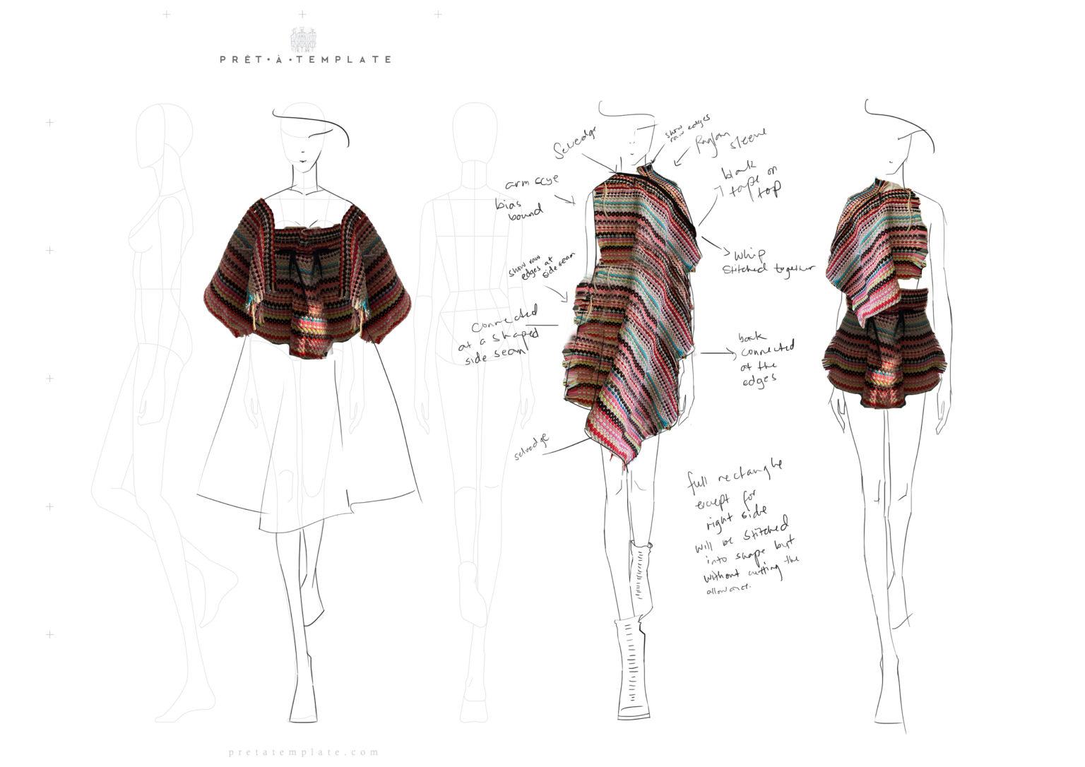 Draft 5. Using Drape as a form of sketch.